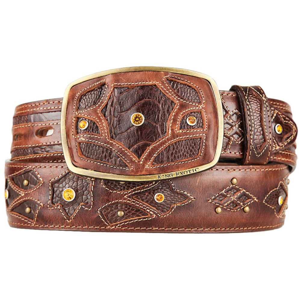 Ostrich Leg Fashion Western Belt 4C11F05