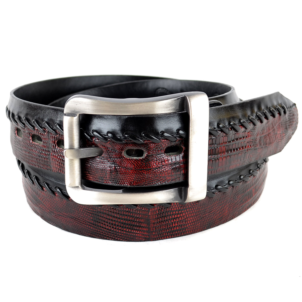 Genuine Lizard Teju Skin Casual Belt C2307
