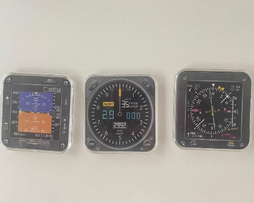 Aviation Maniac Aircraft  Instrument Coasters Set of 3