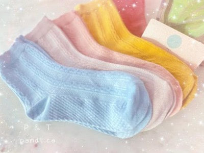Rainbow Serie Women's Socks Fine Combed Cotton 5 Colours Available