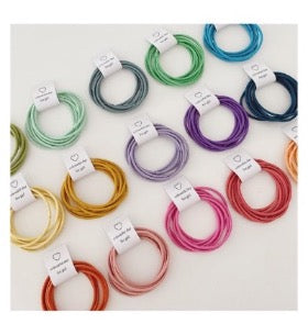 Pastel Colour Hair Elastic 5 Colours Available (5pcs)