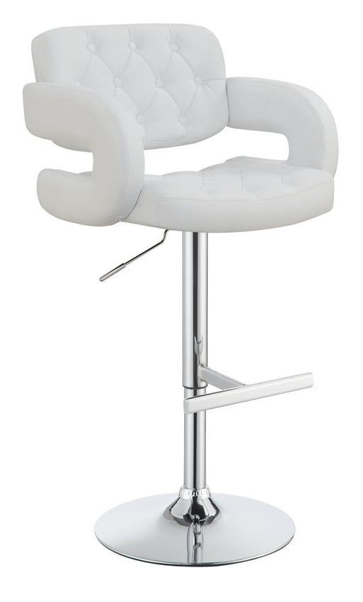 G102557 Contemporary White and Chrome Bar Stool image