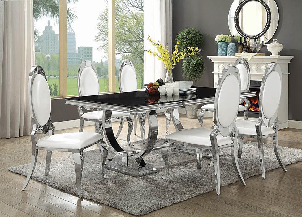 Antoine Hollywood Glam Silver Dining Table image