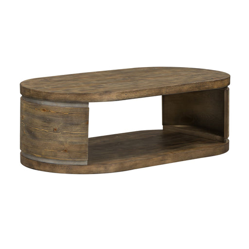 Liberty West End Oval Cocktail Table in Gray Wash Pine 193-OT1010 image