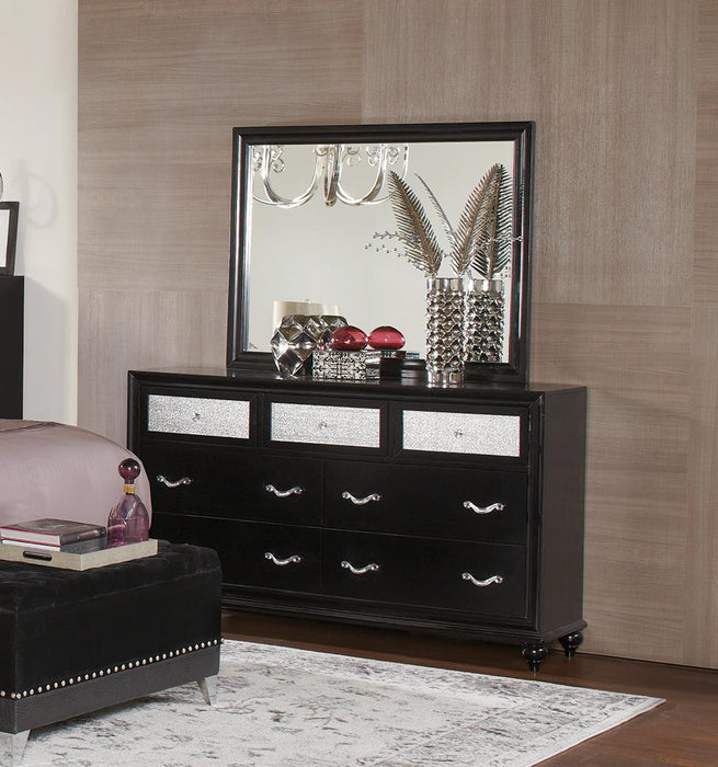 Barzini Seven-Drawer Dresser With Metallic Drawer Front image