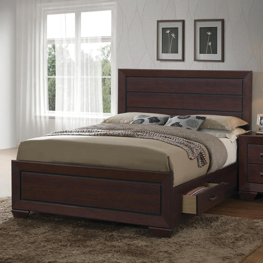 G204393 Fenbrook Transitional Dark Cocoa Queen Bed image