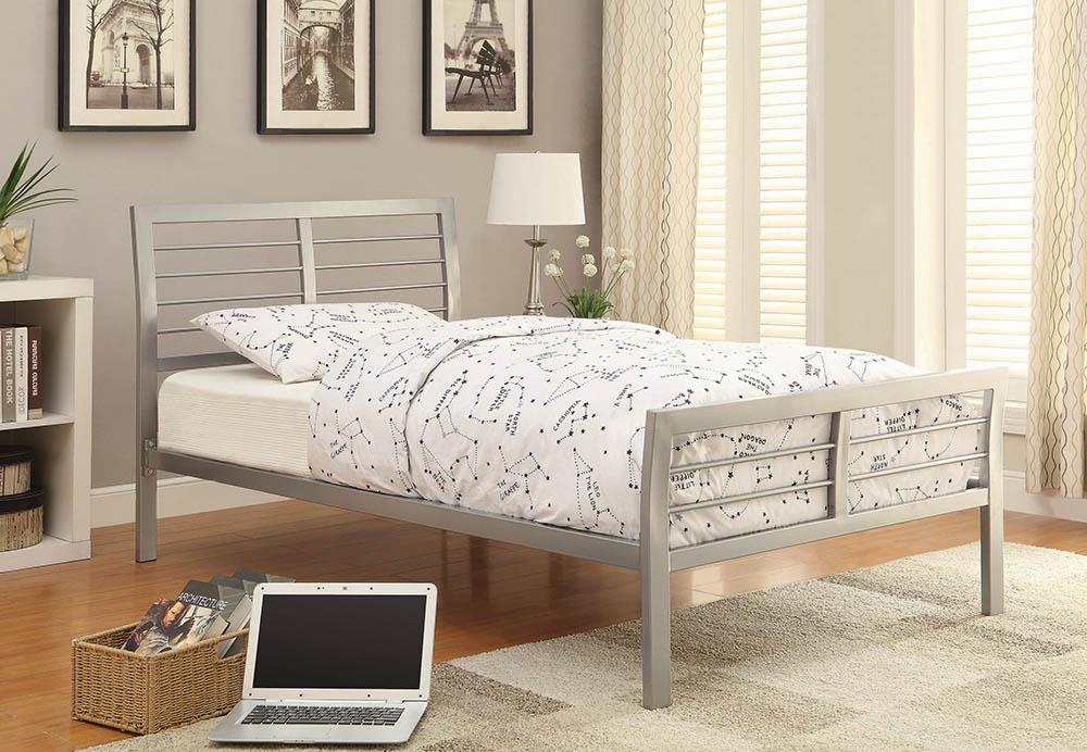 Cooper Contemporary Silver Metal Twin Bed image