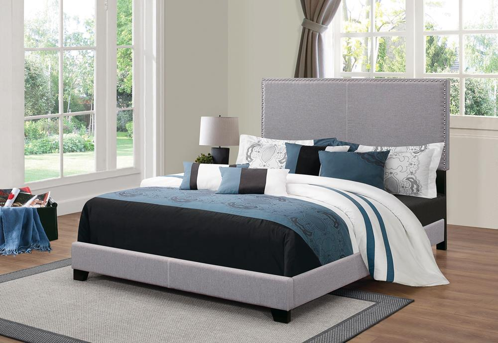 Boyd Upholstered Grey Twin Bed image
