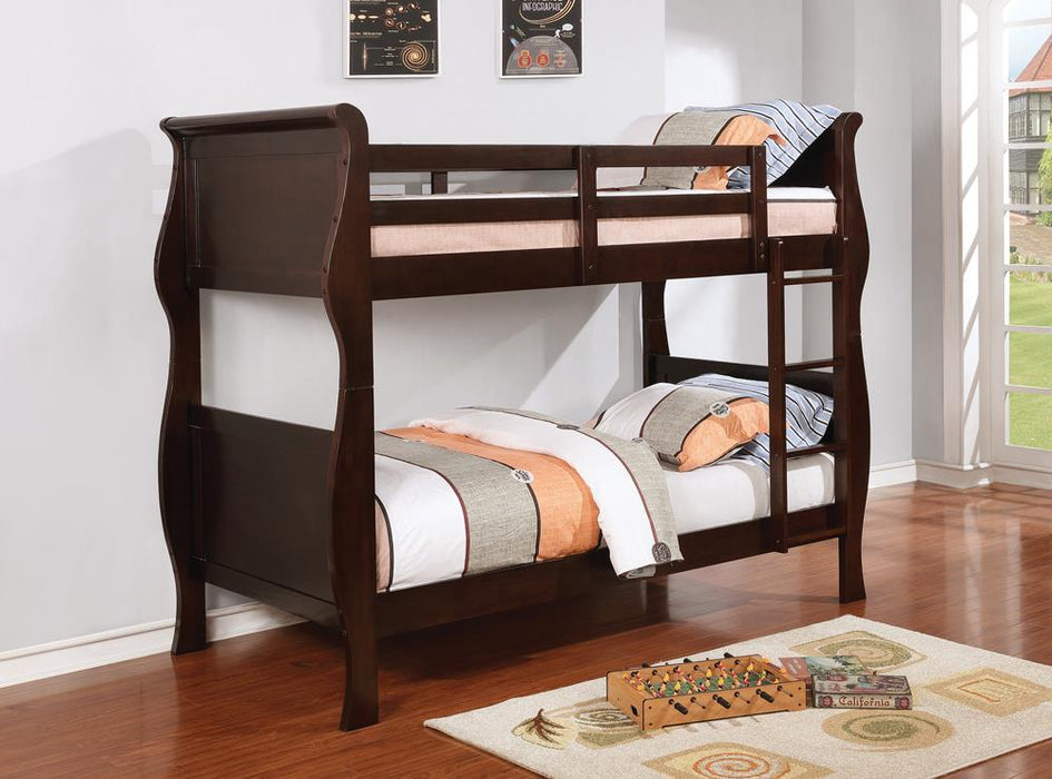 Benson Cappuccino Twin-over-Twin Bunk Bed image