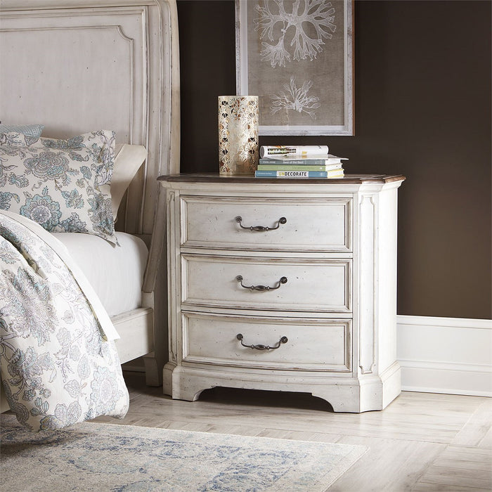 Liberty Abbey Road 3 Drawer Nightstand in Porcelain White 455W-BR62 image