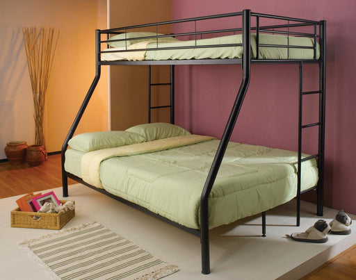 G460062B Contemporary Black Twin-Over-Full Bunk Bed image