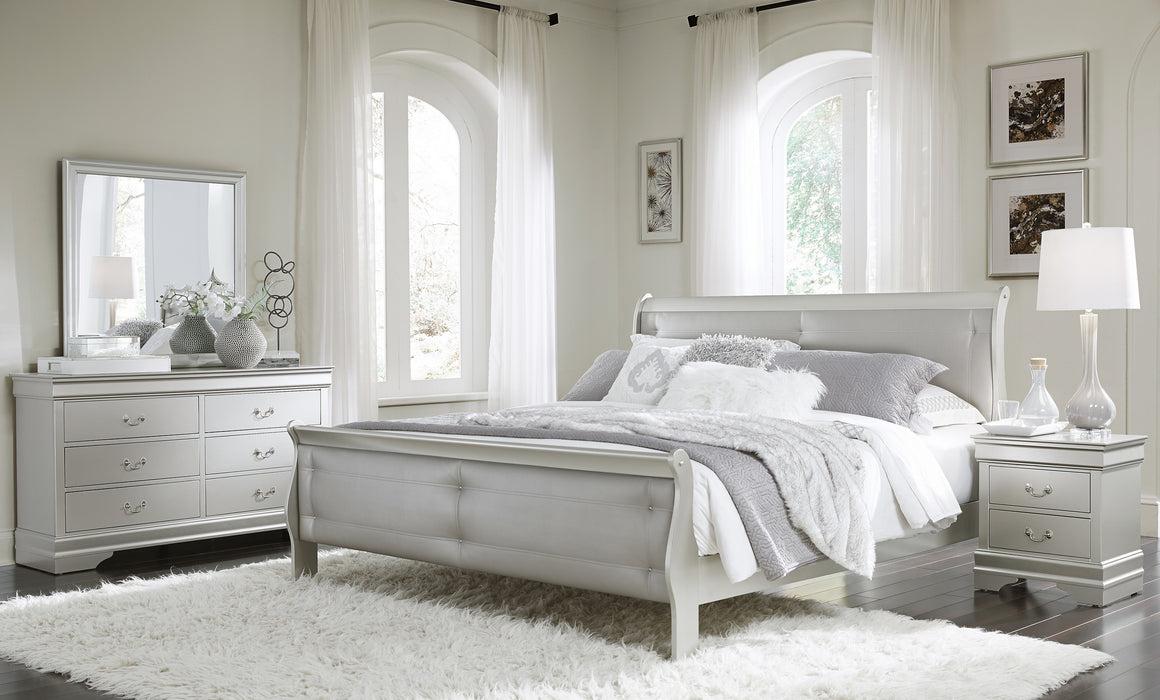 Marley Silver Full 5-Piece Bedroom Set image