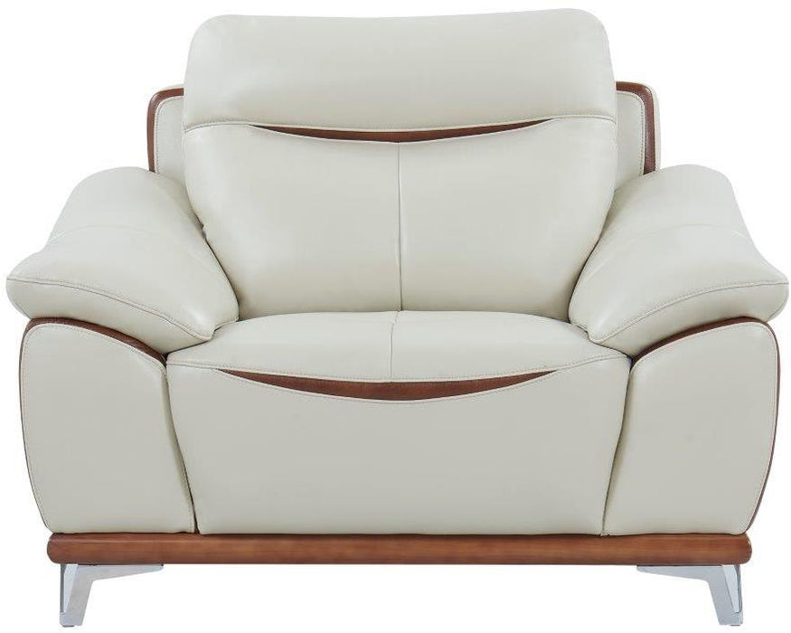 Global Furniture U8351 Chair in Blanche Pearl/Agnes Auburn image