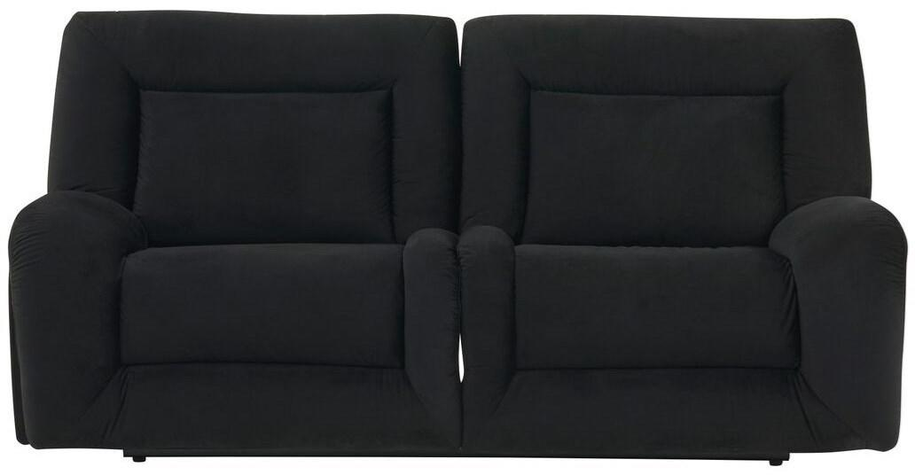 Global Furniture U8900 Power Reclining Sofa in Black Velvet image