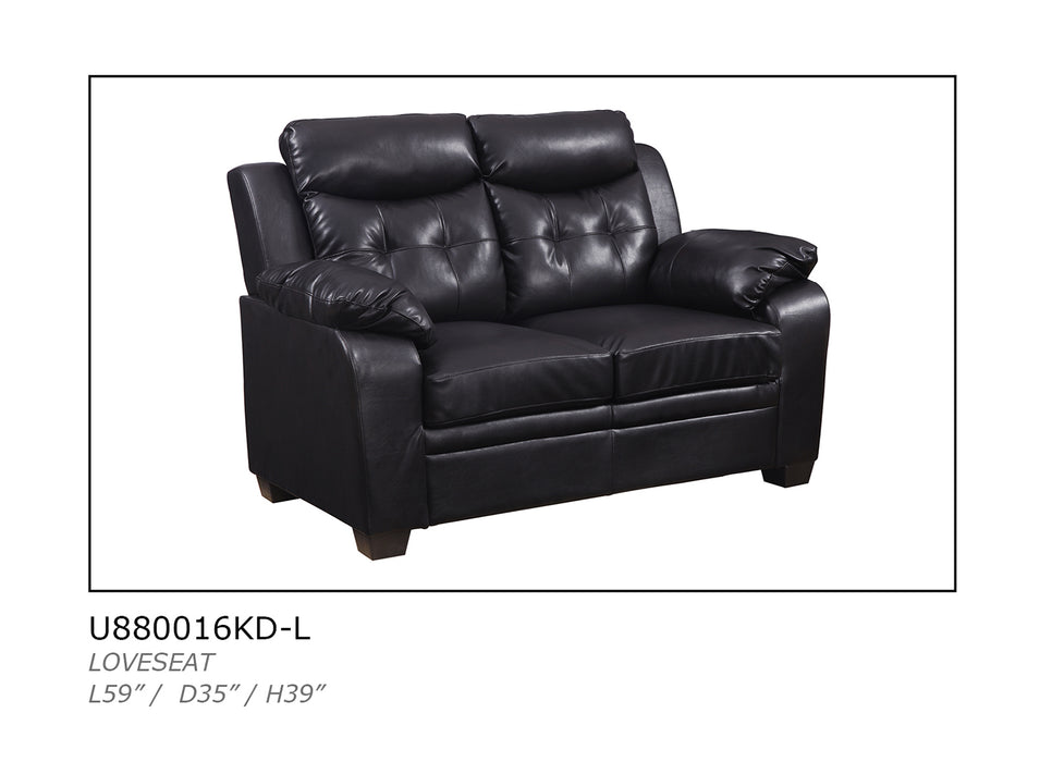 Global Furniture U880016KD Loveseat in Chocolate image