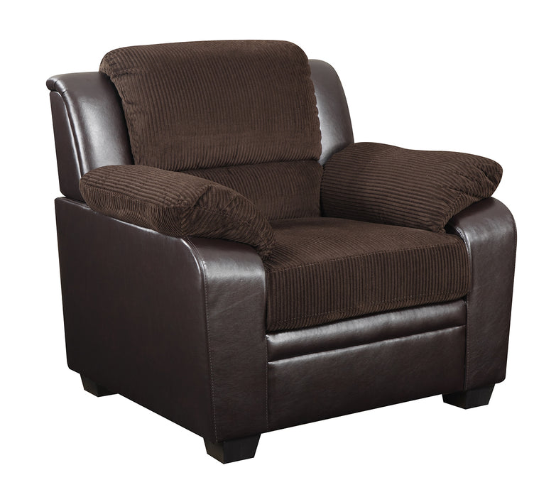 Global Furniture U880018KD Chair in Corduroy/Brown image