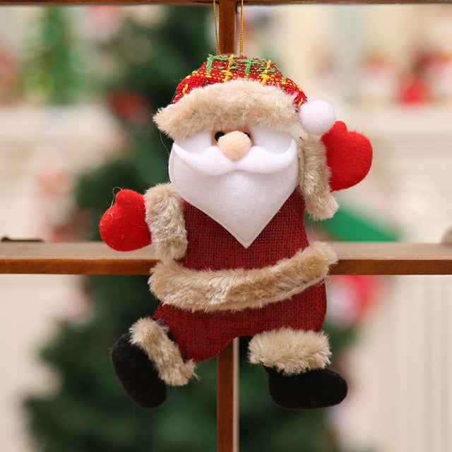 2020 Happy New Year Christmas Ornaments DIY Xmas Gift Santa Claus Snowman Tree Pendant Doll Hang Decorations