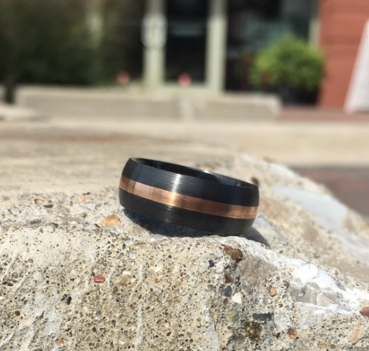 Rose Gold Stripe Band