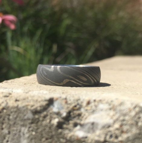 Domed Damascus Print Band