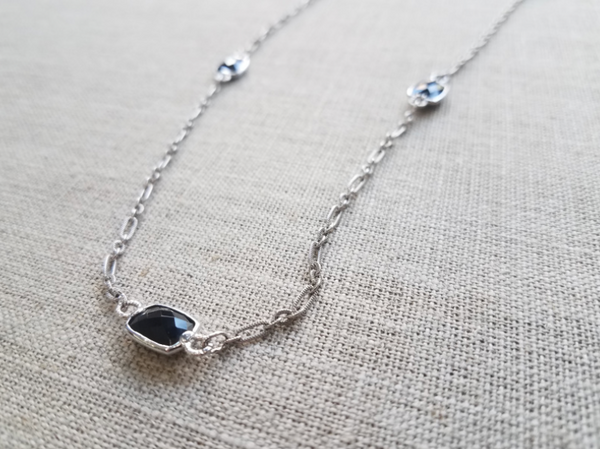 Onyx Bezel Necklace