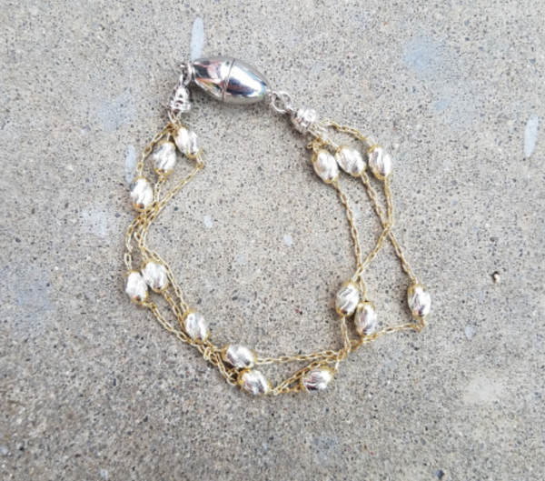 Sterling Silver and Yellow Bracelet