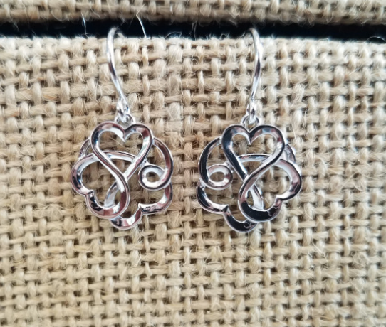 Entwined Heart Drop Earrings