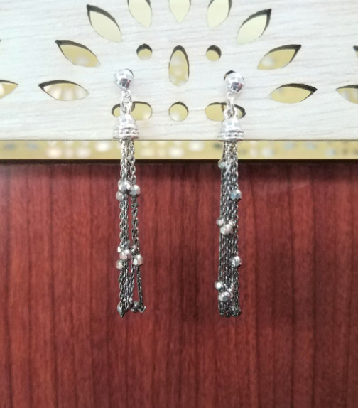 Dangle Black Rhodium Earrings