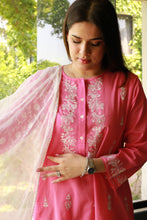 Load image into Gallery viewer, Pink Lawn Shirt with White Booti Embroidery