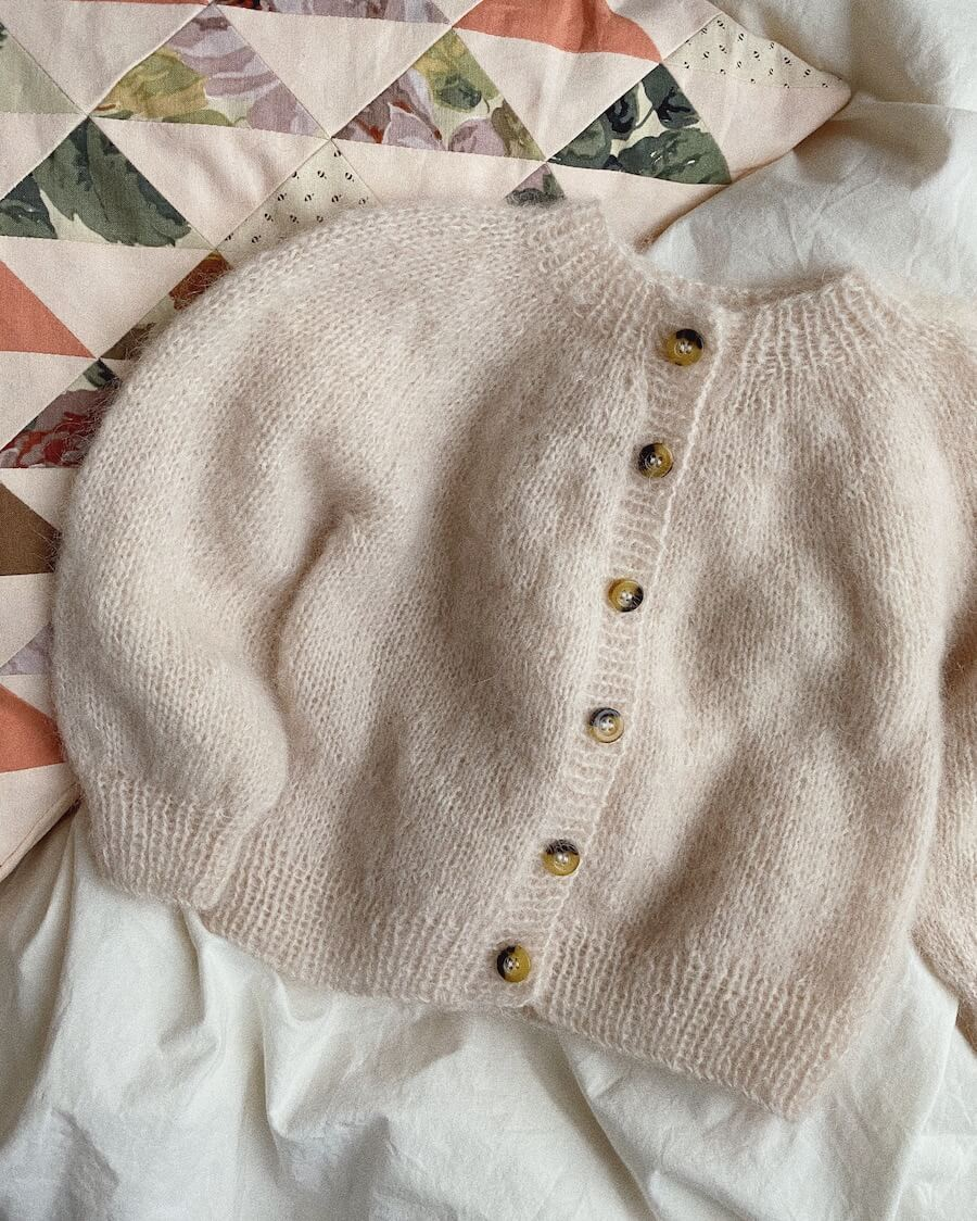 Novice cardigan mini - mohair edition