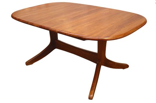 NZ Native RIMU Double Pedestal Fixed Top Table Verso 2000*1100