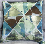 Lovely Patterned Cushion - Teal color