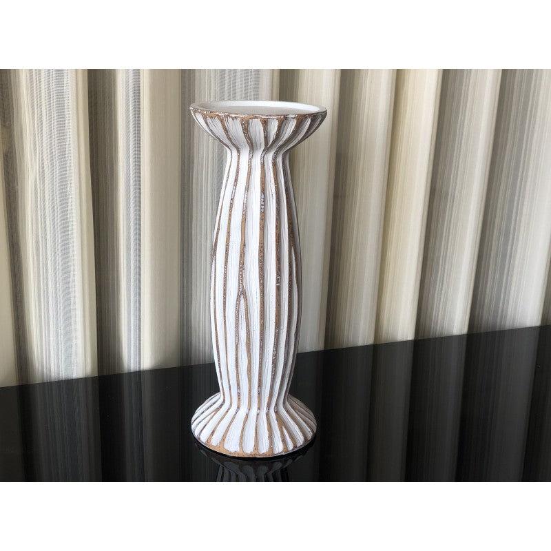 White Candle Holder (L)