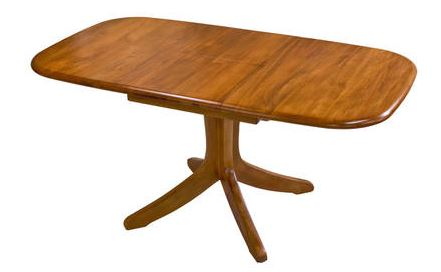 NZ  RIMU Single Pedestal Extension Table Verso