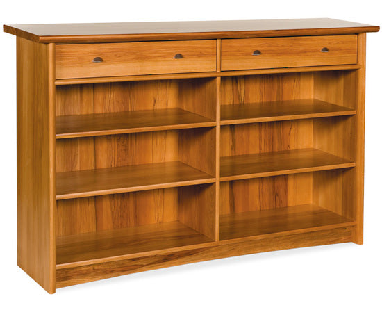 NZ Native RIMU Bookcase-Display with Drawer 1600*1030 Verso