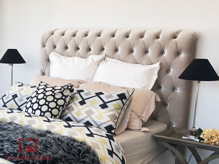 French Style Studded Headboard