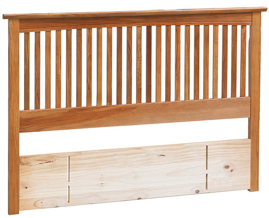 NZ Native RIMU Headboard - Slatted Style Verso
