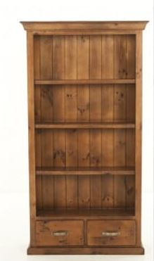 Rustic Style Bookcase with Drawer
