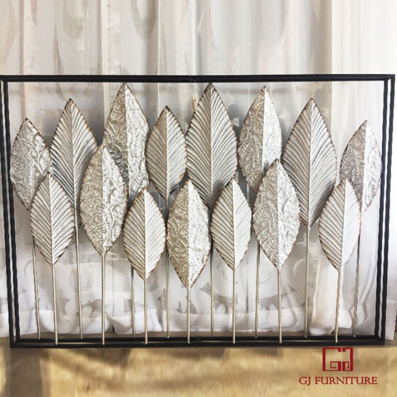 3D Wall Hanging Metal Art - leaves
