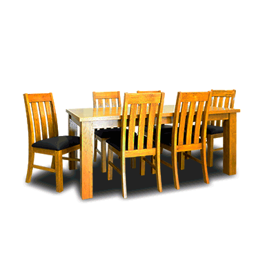 Oakland 1800mm 7Pcs  Dining Set