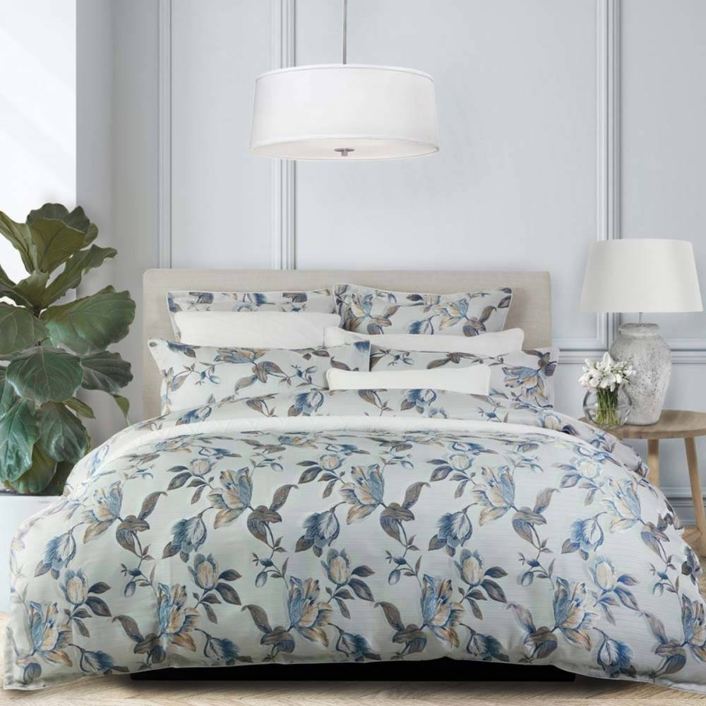 Giselle Blue Quilt Cover Set by Private Collection - King