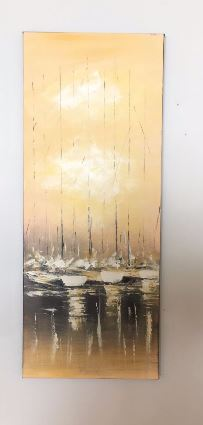 Lovely Oil Painting Sailing Boats on the Sea 400mm x 1000mm