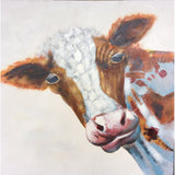 Lovely oil painting Bull Head 800mm x 800mm