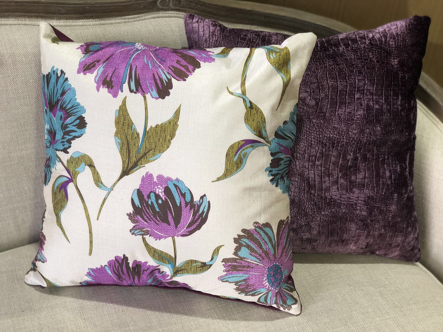 Lovely Floral Pattered Cushion - 3 colours