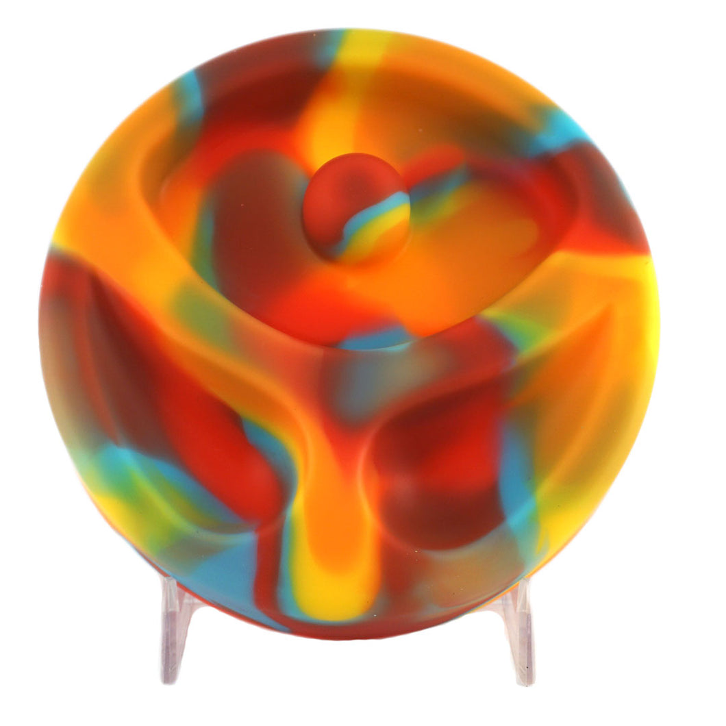 Rainbow Silicone Ashtray With Built-In Snuffer