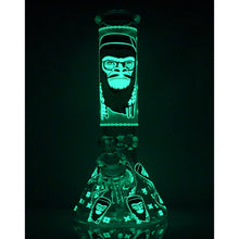 "Load image into Gallery viewer, 13"" Gorilla Mustache Glow-In-The-Dark Water Pipe"