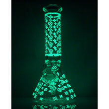 "Load image into Gallery viewer, 14"" Louis Vuitton Glow-In-The-Dark Water Pipe"
