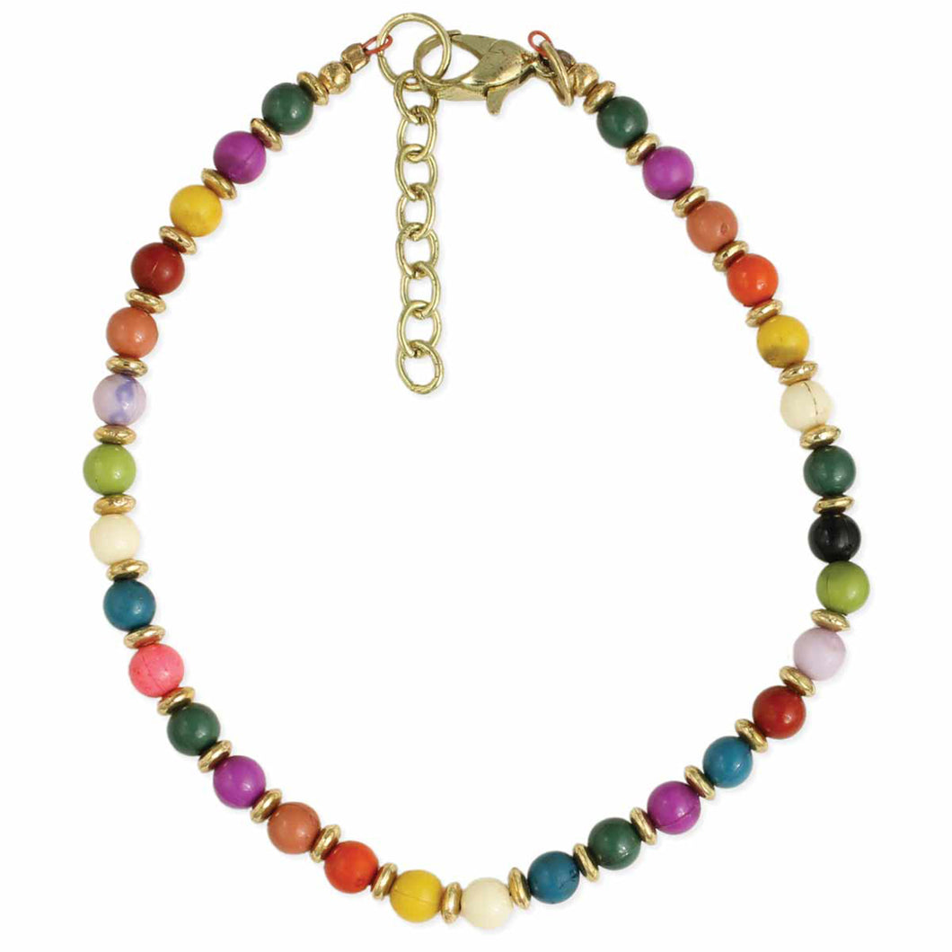 Boho Beaches Multi Bead Anklet