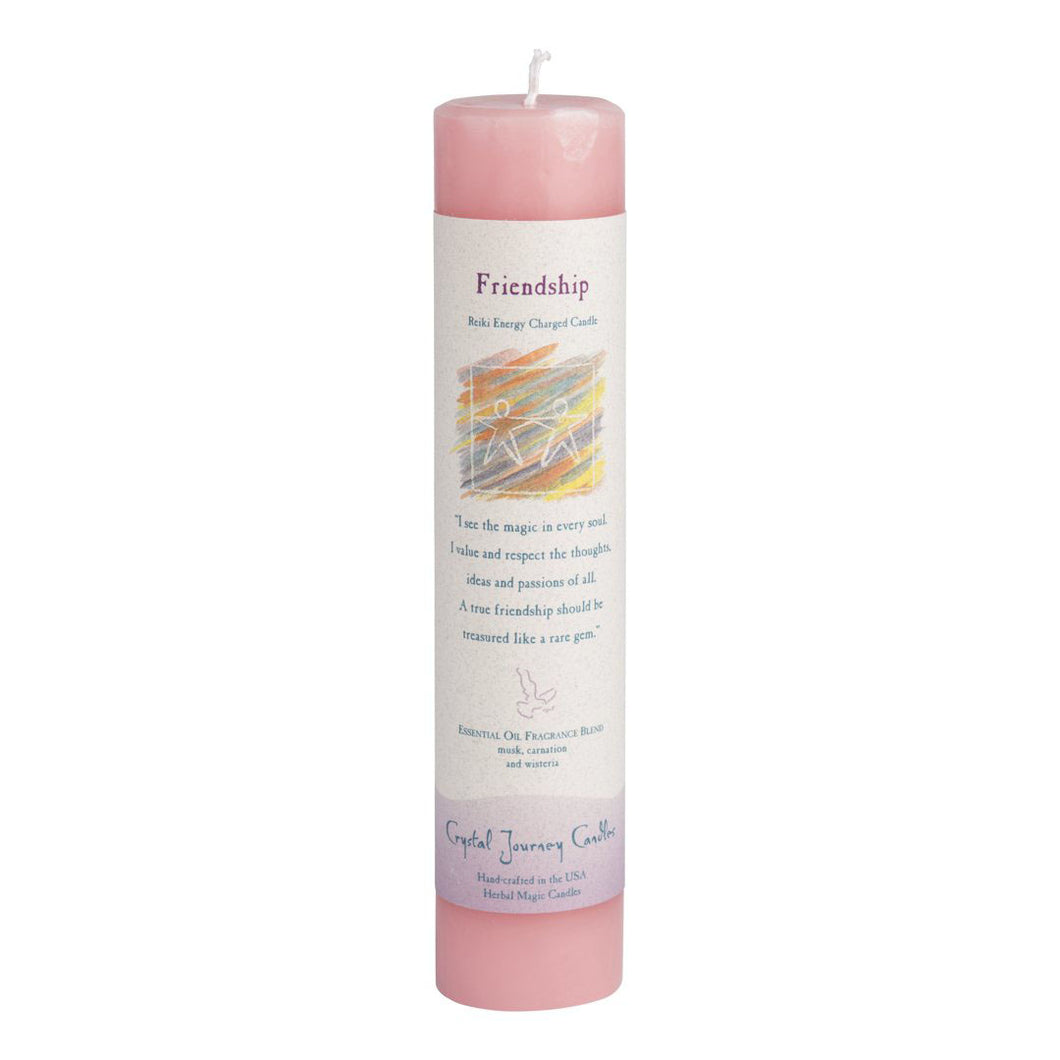 Reiki Pillar Candle - Friendship