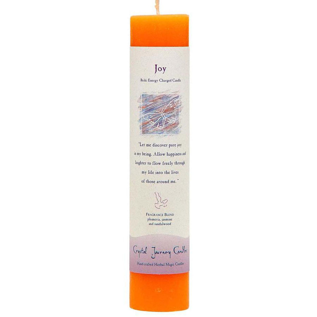 Reiki Pillar Candle - Joy