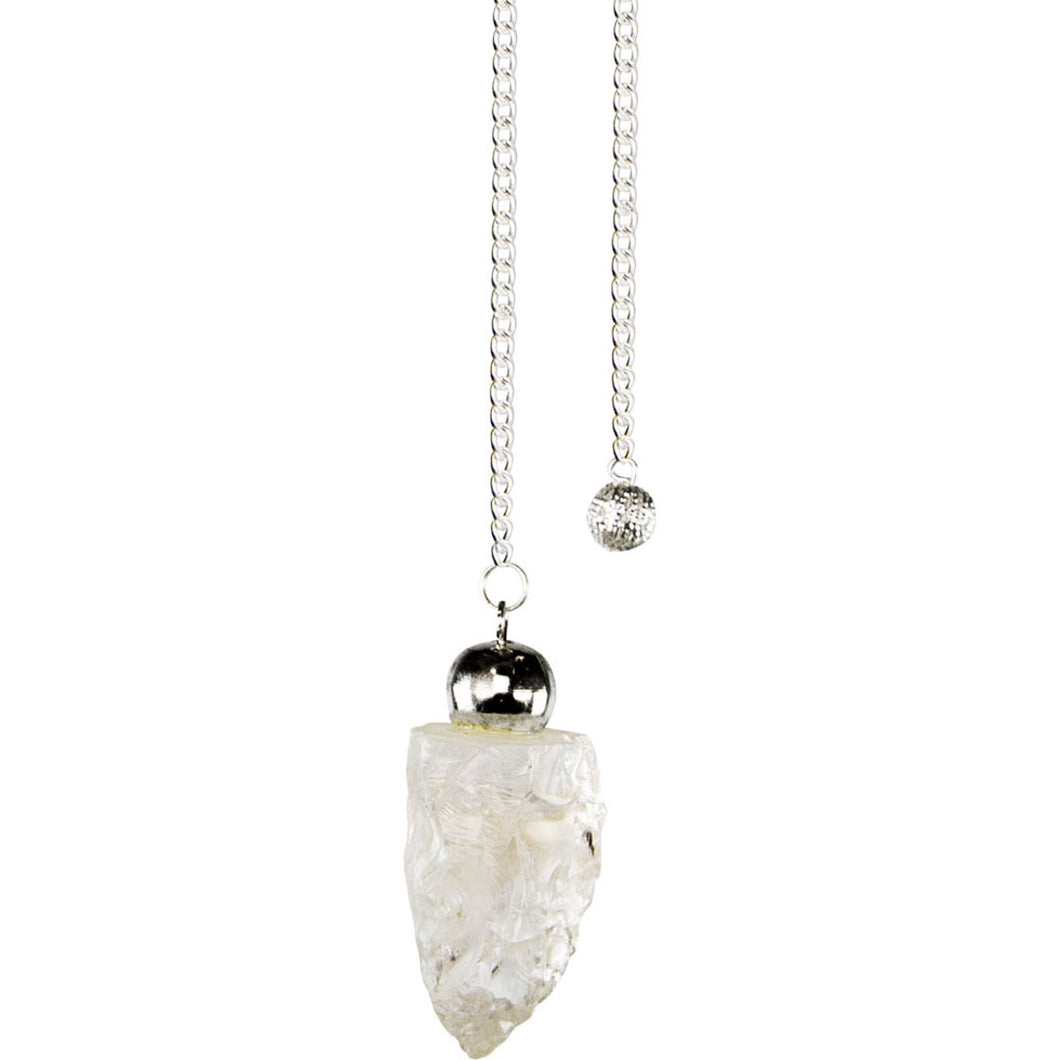 Rough Clear Quartz Pendulum